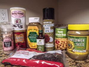 Ingredients for sunflower butter blondies