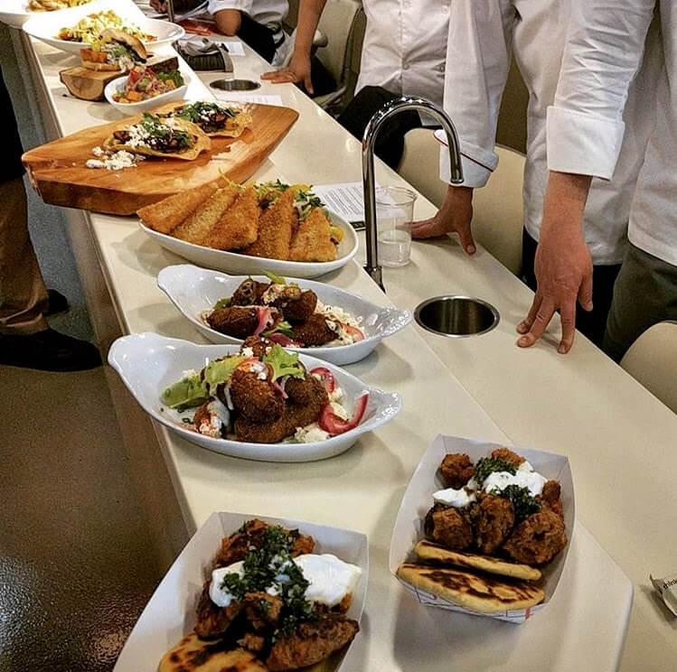 Buffet of Meditteranean food