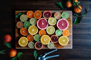 Citrus on a board