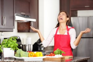 Woman who doesn't know what to make for dinner
