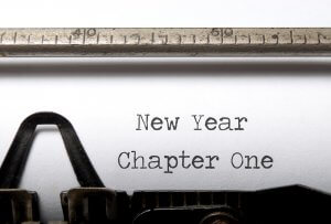 New Years resolutions typewriter