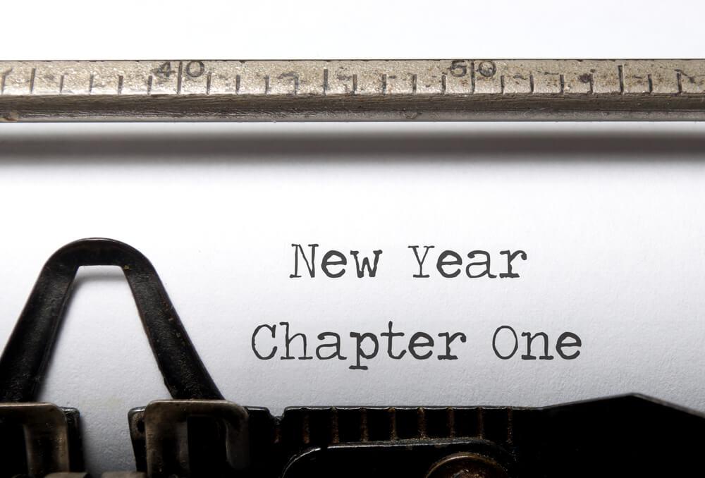 New Years resolutions typewriter