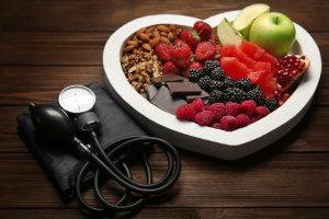 Fruit, nuts and a stethoscope