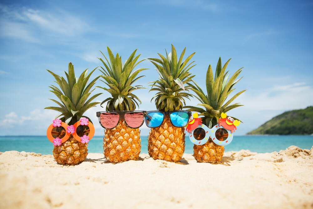 beach pineapples