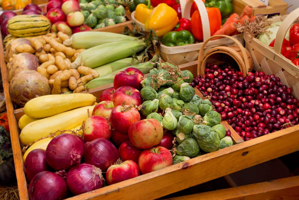 Fall fruits and veggies