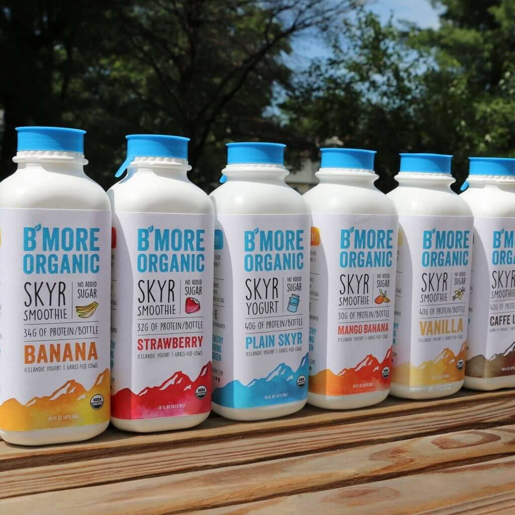 B'More Organic Skyr bottles