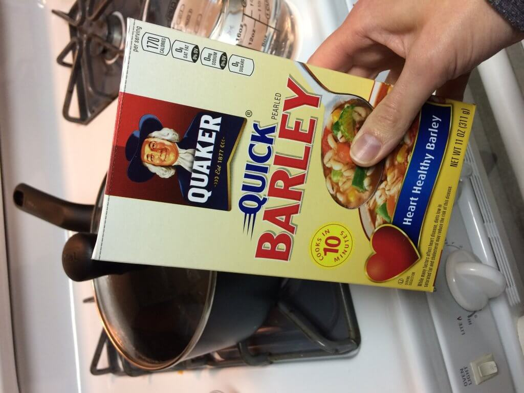 Quick cooking barley