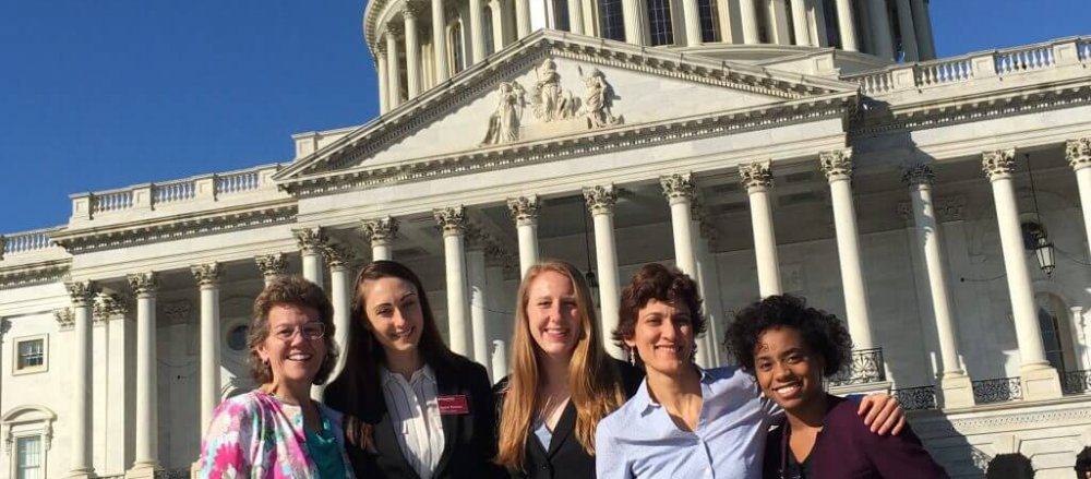 Dietitians in front of Capitol Building