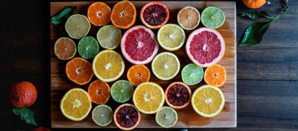 Citrus on a board