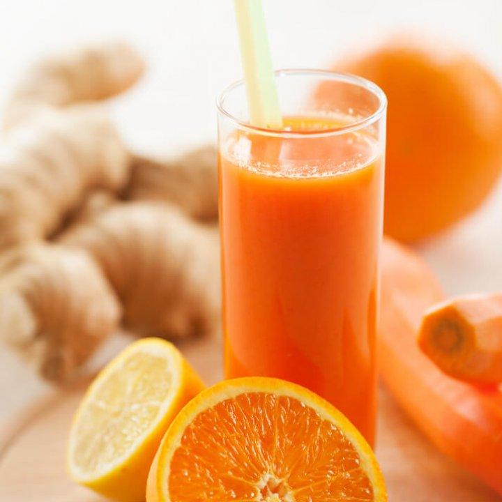 Orange ginger juice