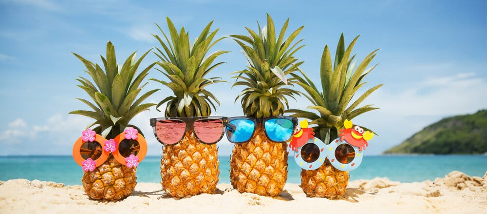 beach pineapples